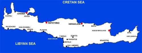 Cartina Geografica Dell Isola Di Creta.Mappa Di Creta